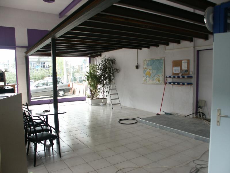 Construction d'une mezzanine dans notre local du rez-de-chaussée
