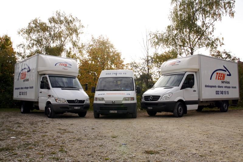 Nos véhicules de déménagements et transports