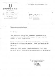 Autorisation vente de pommes de terre - historique de TEEN Services Neuchâtel