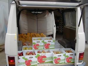 Vente de pommes et pommes-de-terre